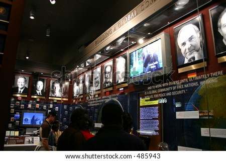 Clinton Library Display - stock photo