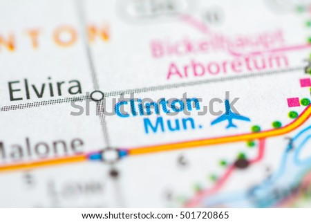 Clinton Municipal Airport. Iowa. USA.