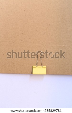 clip and blank note paper - stock photo
