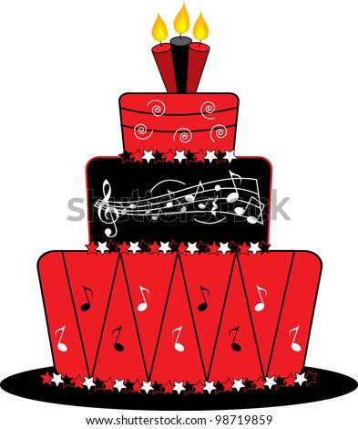 Birthday Cake Modern Art : Stock Images similar to ID 60367546 - tiered chocolate ...