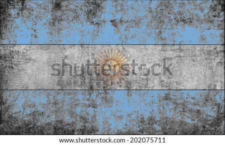 Clip Art Vintage Looking National Flag Of Argentina - stock photo