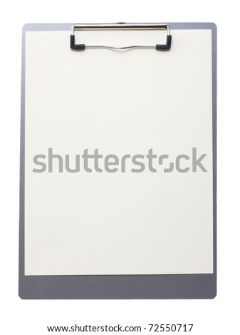 Clip Board isolated on a white background - stock photo