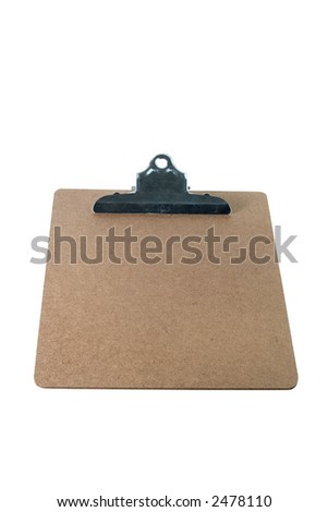 clip board isolated on white background