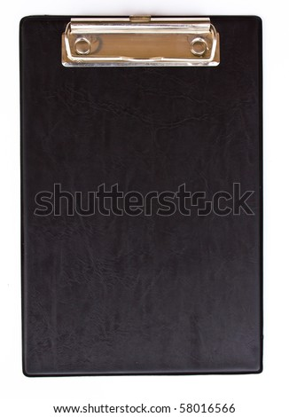 Clip board isolated on white background - stock photo