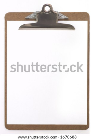 clip board with blank paper