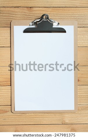clip board with white paper