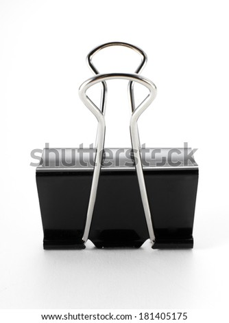 Clip on white background - stock photo