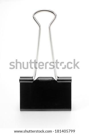 Clip on white background - stock photo