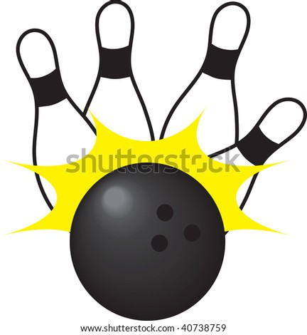 clipart illustration bowling ball knocking over stock illustration rh shutterstock com angry bowling ball clip art bowling ball pictures clip art