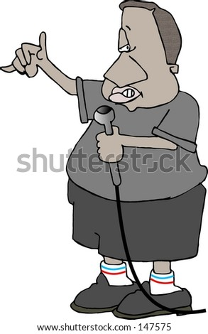 Clipart illustration of a rapper - stock photo