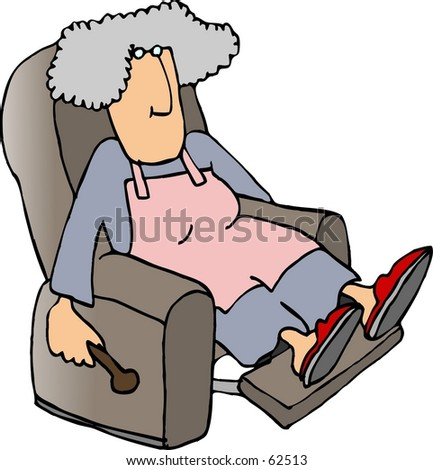 Clipart Illustration Of A Woman In Recliner