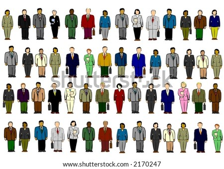 Clipart of various business people
