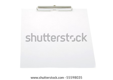 clipboard isolate on white - stock photo