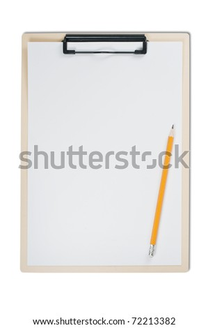 Clipboard isolated on white
