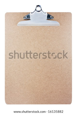 Clipboard isolated on white background with clipping path. - stock photo