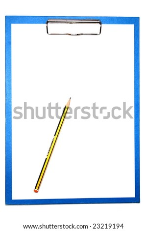 clipboard isolated on white with empty space for text message - stock photo