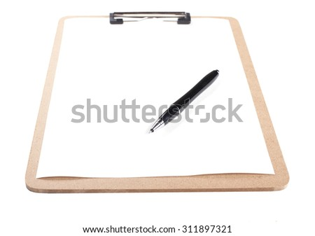 Clipboard, White Background, Blank, Document, Clipping Path