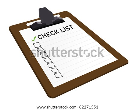 Clipboard With Check List Attached - stock photo