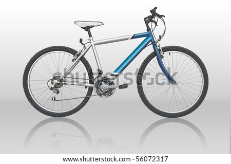 Clipping path included - isolated mountain bike - stock photo