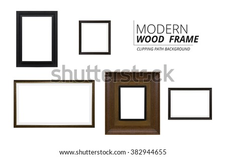 modern picture frames large stock photo clipping path collection white background 11x14 images