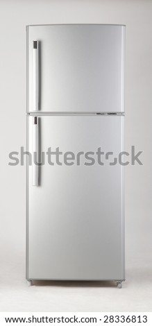 clipping path of freezer on the plain background - stock photo