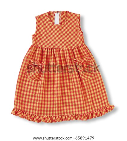 clipping path of the child dress