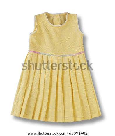 clipping path of the child dress - stock photo