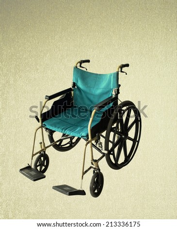 Clipping path this file Wheelchair service  - stock photo