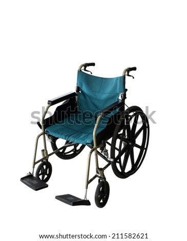 Clipping path this file Wheelchair service in airport terminal - stock photo