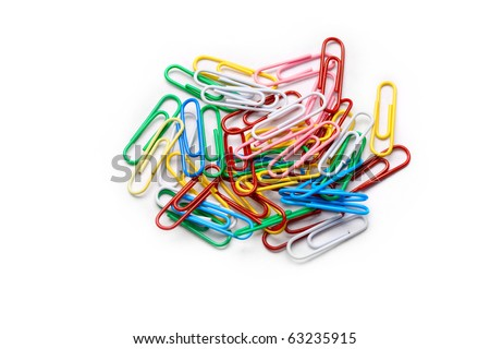 Clips isolated on white - stock photo