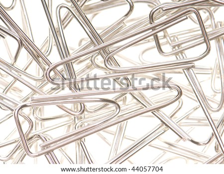 clips on a white background - stock photo