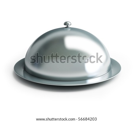 cloche on a white background - stock photo
