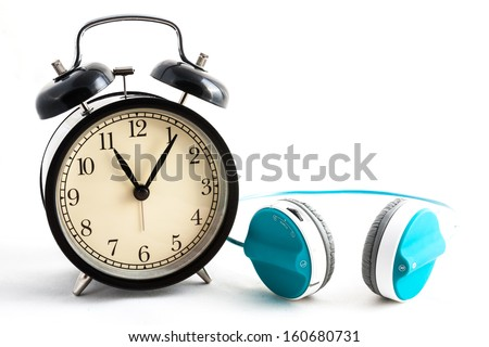 Clock and headphone
