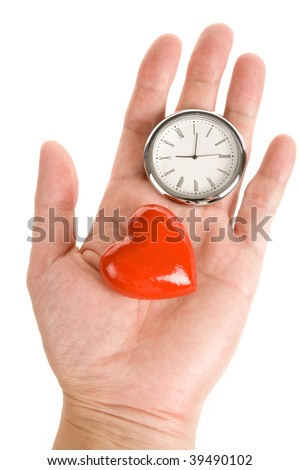 Clock and Red Heart, Concept of time and love