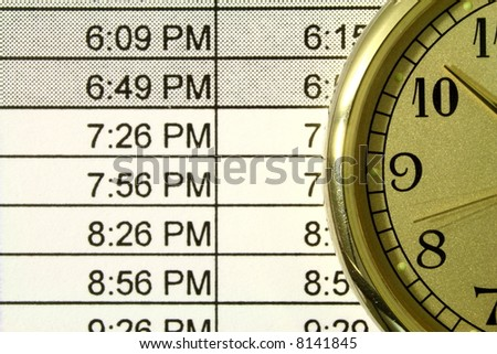 clock and schedule - stock photo