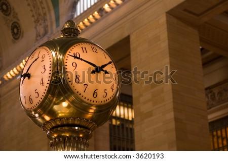 Clock at Grand Central - stock photo