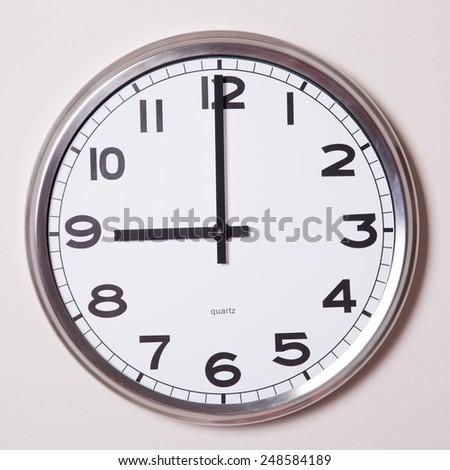 clock at 9 o'clock  - stock photo