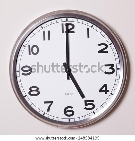 clock at 5 o'clock  - stock photo