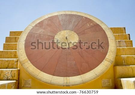 Clock at observatory jaipur - stock photo