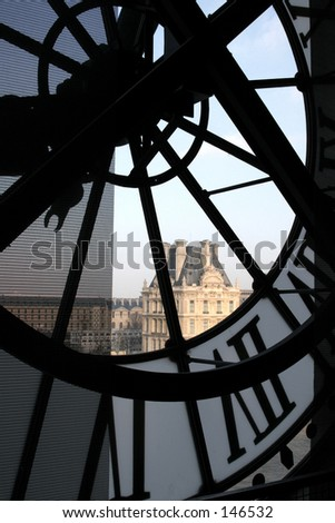 Clock at the Orsay Museum (Musée d'Orsay) - stock photo