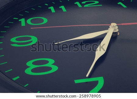 Clock close up - stock photo
