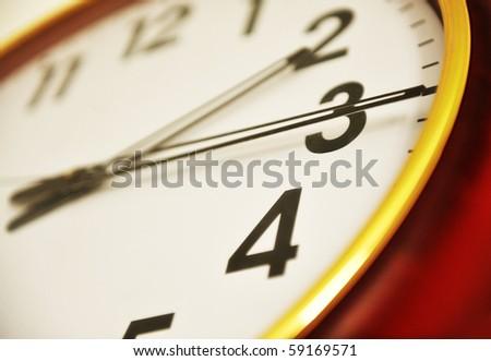 Clock closeup - stock photo