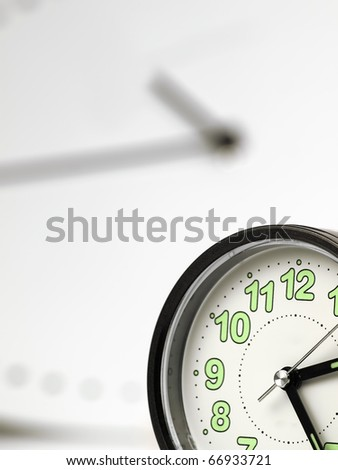clock closeup ,selective focus, useful for various time related themes