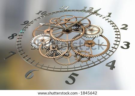 Clock 3d Image - stock photo