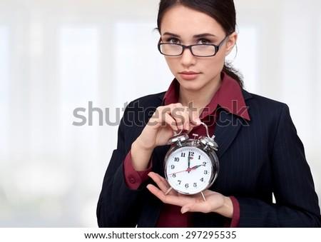 Clock, Deadline, Humor. - stock photo