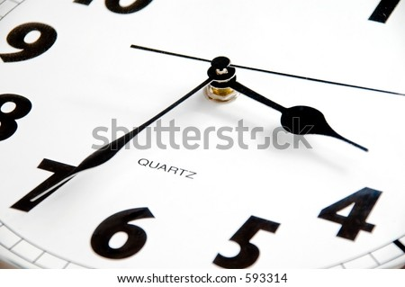 clock, detail - stock photo