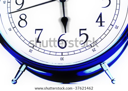 clock detail. a cyclical machine of our life - stock photo