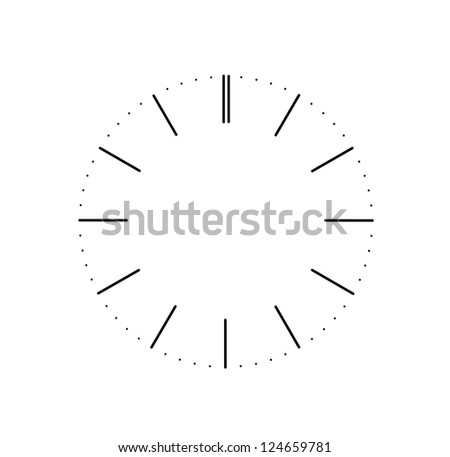 clock dial on white background - stock photo