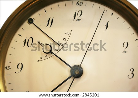 clock face abstract - stock photo