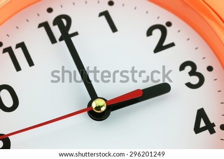 Clock face in time concept,macro image. - stock photo
